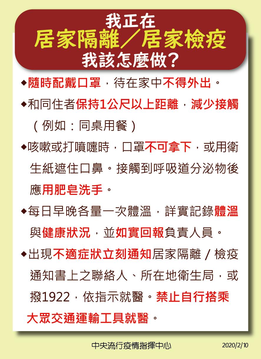 4.居家檢疫隔離當事人注意事項